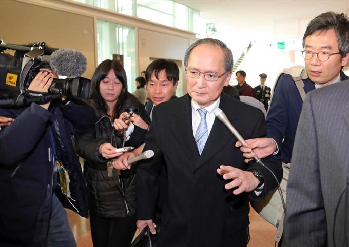 長嶺駐韓大使が帰国