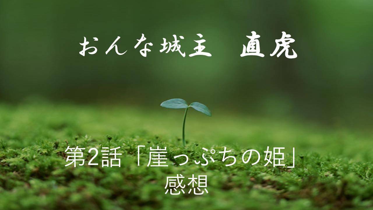 おんな城主直虎感想第2話「崖っぷちの姫」