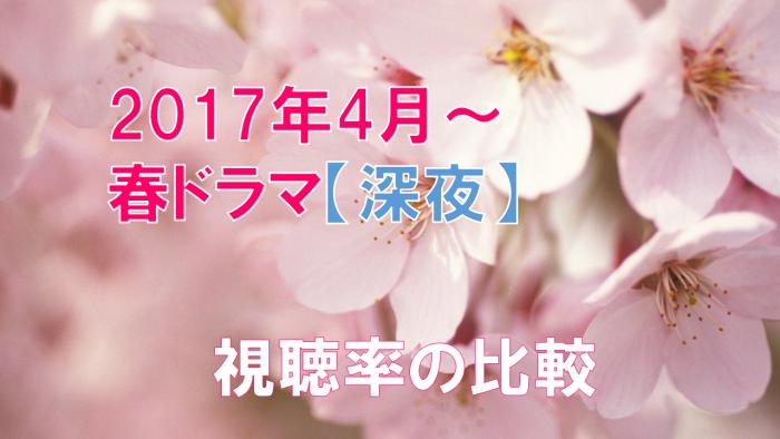 2017年春ドラマ (深夜)視聴率の比較