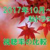 2017年秋ドラマ 視聴率の比較