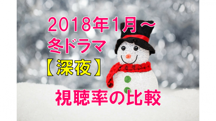 2018年冬ドラマ(深夜) 視聴率の比較