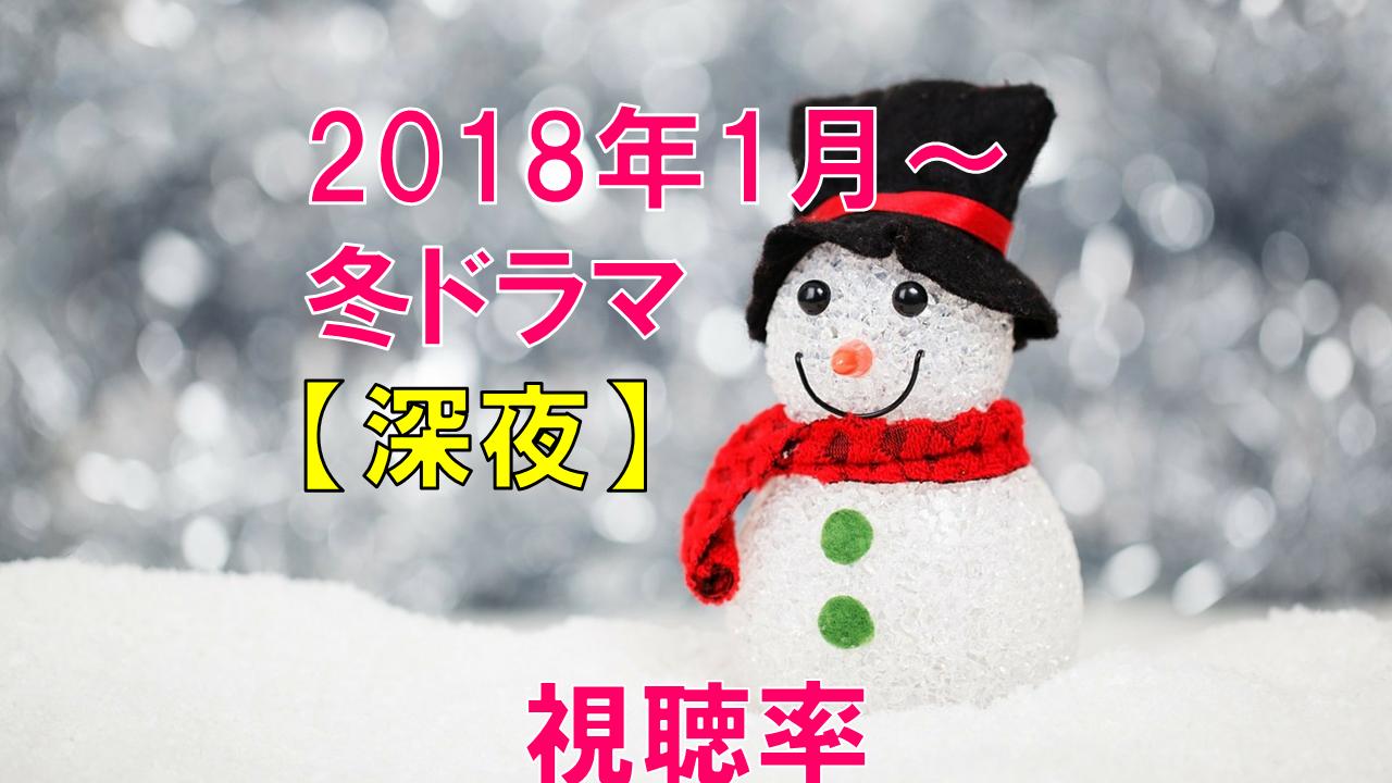 【深夜】2018年冬ドラマ 視聴率の比較