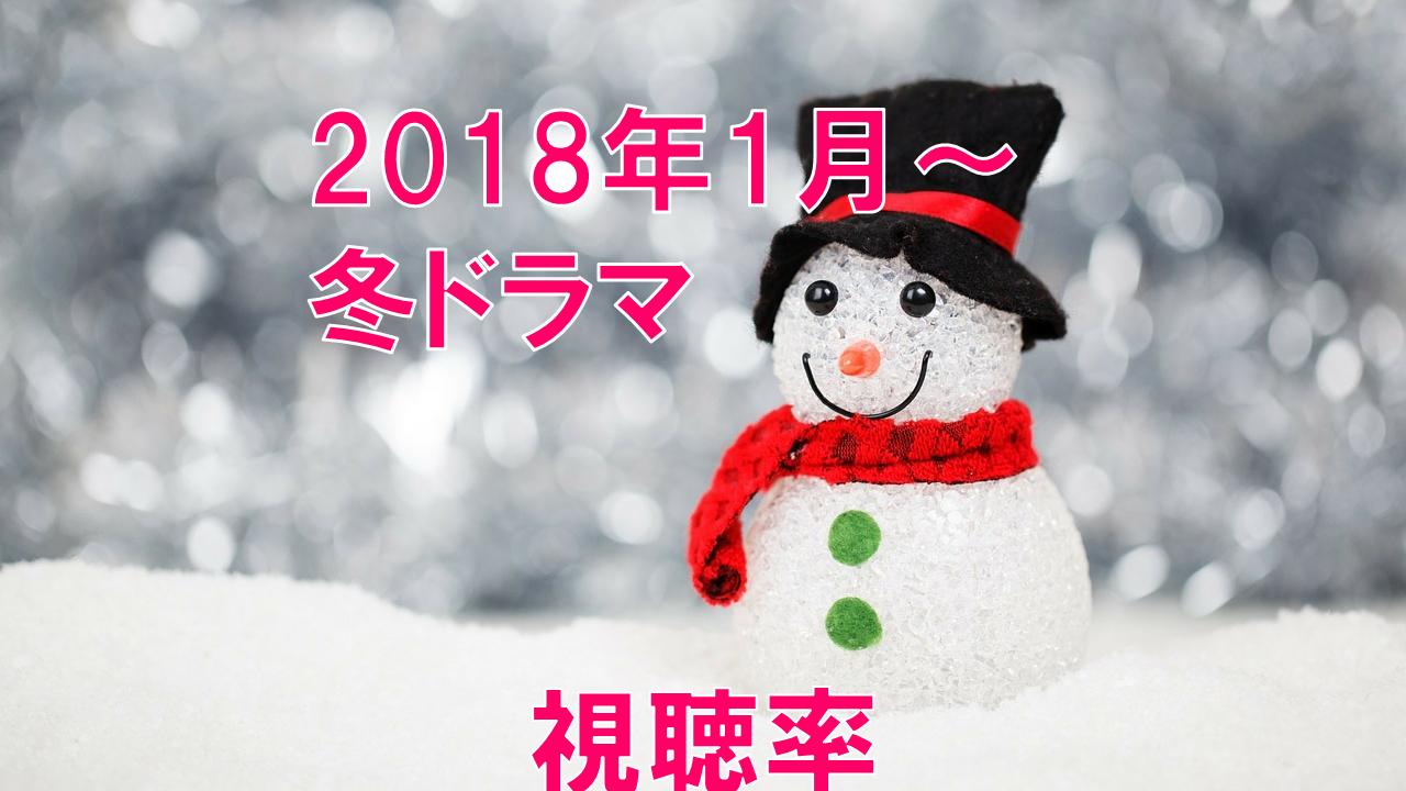 2018年冬ドラマ 視聴率の比較