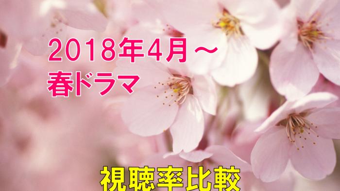 2018年4月~春ドラマ 視聴率の比較