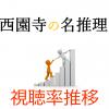 「執事 西園寺の名推理」視聴率一覧&グラフ推移