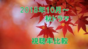 2018年10月~秋ドラマ 視聴率比較