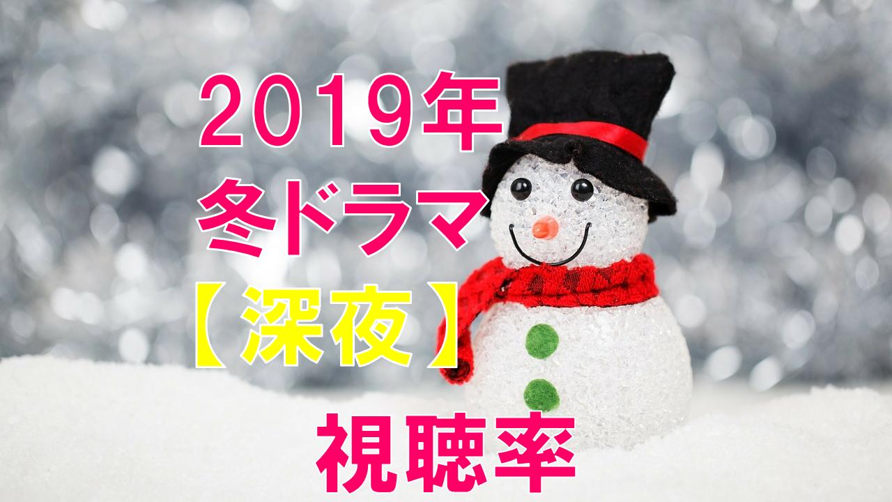 深夜ドラマ(2019年1月~冬ドラマ) 視聴率比較
