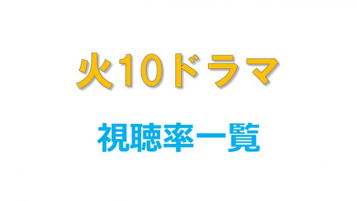 火10ドラマ 視聴率比較