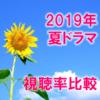 2019夏ドラマ 視聴率一覧&グラフ推移