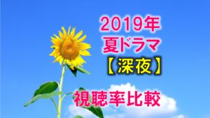 深夜ドラマ(2019年7月~夏ドラマ) 視聴率比較