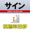 「サイン―法医学者 柚木貴志の事件―」視聴率一覧&グラフ推移