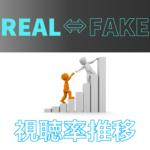 REAL⇔FAKE 視聴率推移