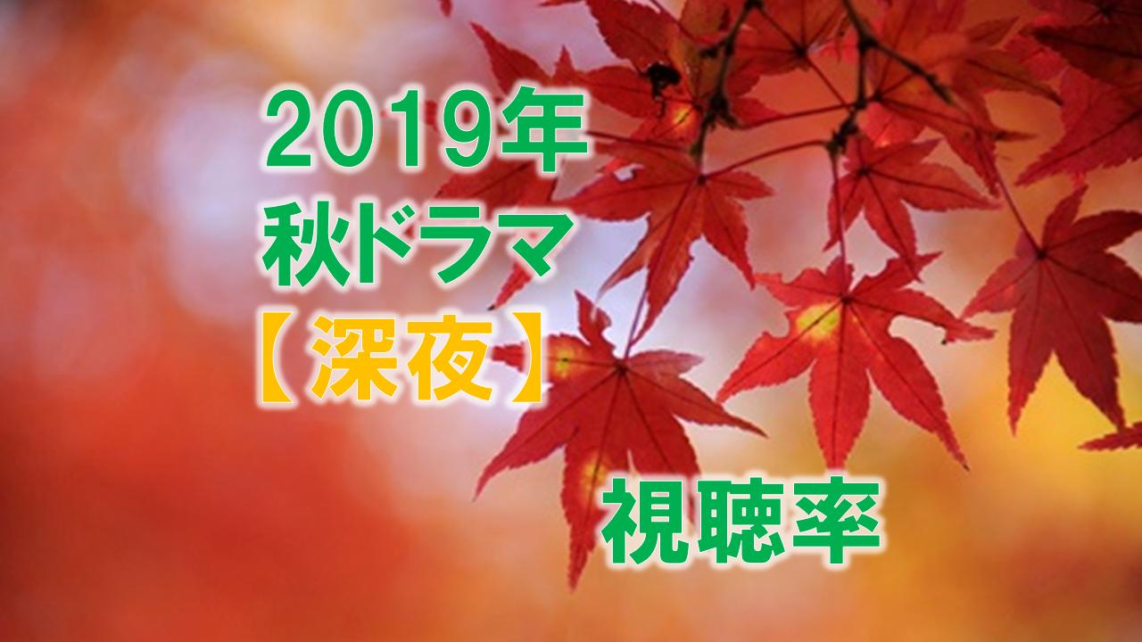 深夜ドラマ(2019年10月~秋ドラマ) 視聴率比較